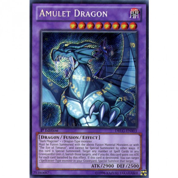 Amulet Dragon DRLG-EN003 1st Edition (Secret Rare) Yu-Gi-Oh! Card