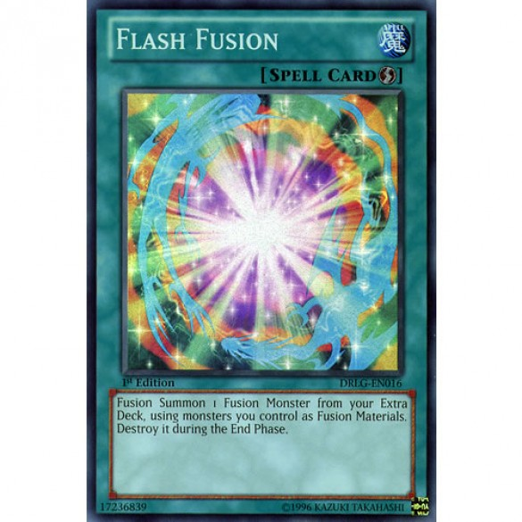 Flash Fusion DRLG-EN016 1st Edition (Super Rare) Yu-Gi-Oh! Card
