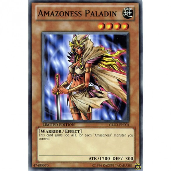 Amazoness Paladin GLD3-EN004 Limited Edition (Common) Yu-Gi-Oh! Card
