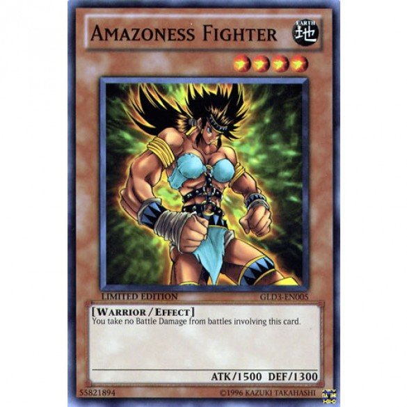 Amazoness Fighter GLD3-EN005 Limited Edition (Common) Yu-Gi-Oh! Card