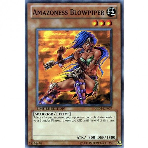 Amazoness Blowpiper GLD3-EN007 Limited Edition (Common) Yu-Gi-Oh! Card