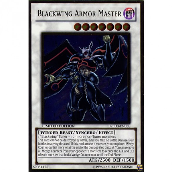 Blackwing Armour Master GLD3-EN038 Limited Edition (Gold Ultra Rare) Yu-Gi-Oh! Card