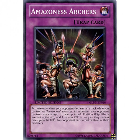 Amazoness Archers GLD3-EN046 Limited Edition (Common) Yu-Gi-Oh! Card