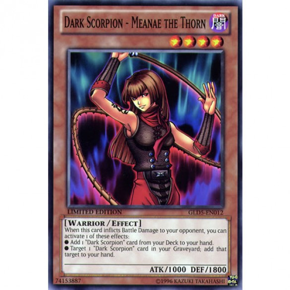 Dark Scorpion - Meanae the Thorn GLD5-EN012 Limited Edition (Common) Yu-Gi-Oh! Card