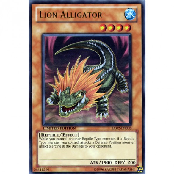 Lion Alligator LC02-EN008 Limited Edition (Ultra Rare) Yu-Gi-Oh! Card
