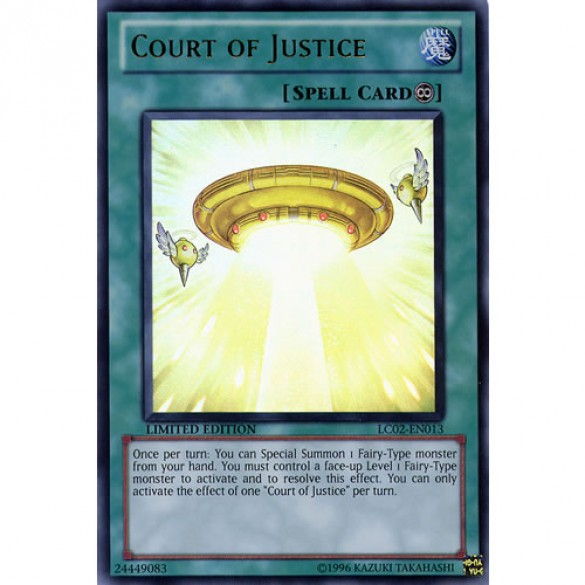 Court of Justice LC02-EN013 Limited Edition (Ultra Rare) Yu-Gi-Oh! Card