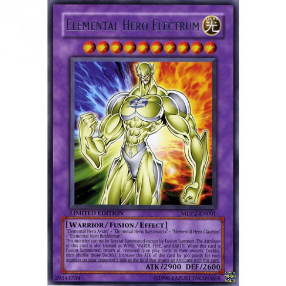 Elemental Hero Electrum MDP2-EN001 Limited Edition (Rare) Yu-Gi-Oh! Card