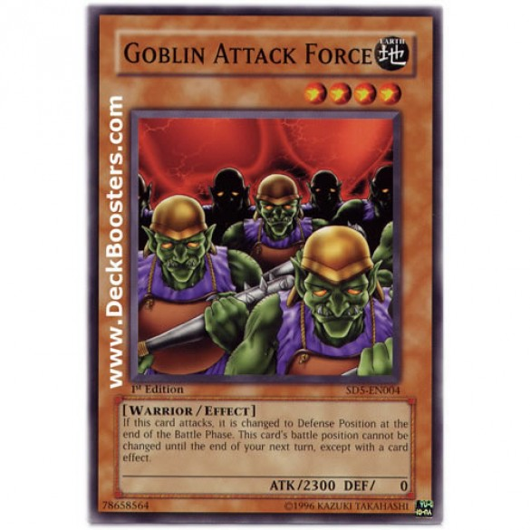 Goblin Attack Force SD5-EN004 1st Edition (Common) Yu-Gi-Oh! Card
