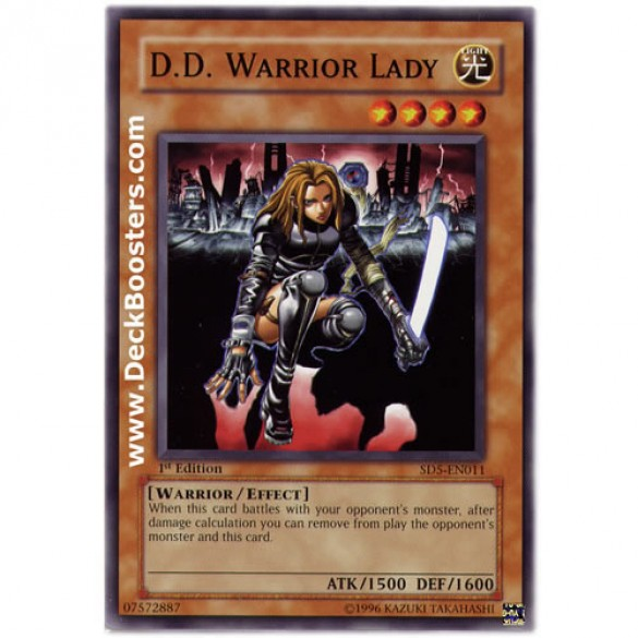 D. D. Warrior Lady SD5-EN011 1st Edition (Common) Yu-Gi-Oh! Card
