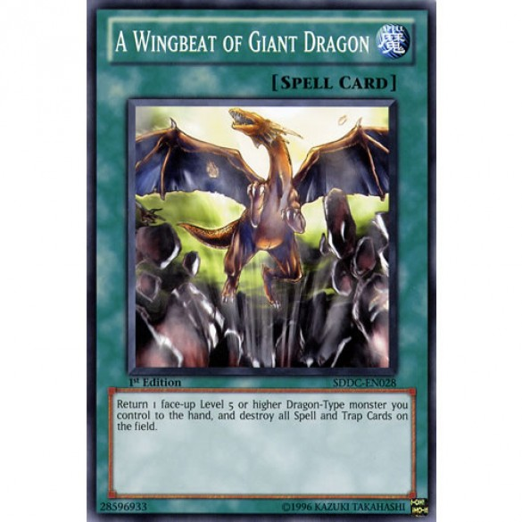 A Wingbeat of Giant Dragon SDDC-EN028 1st Edition (Common) Yu-Gi-Oh! Card
