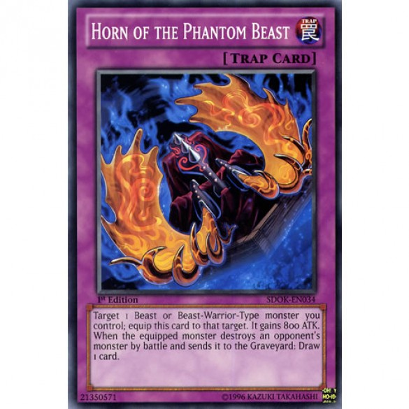 Horn of the Phantom Beast SDOK-EN034 1st Edition (Common) Yu-Gi-Oh! Card