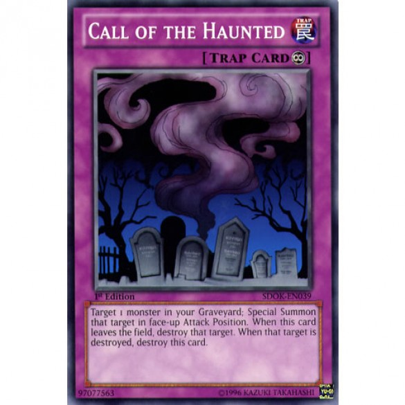 Call of the Haunted SDOK-EN039 1st Edition (Common) Yu-Gi-Oh! Card