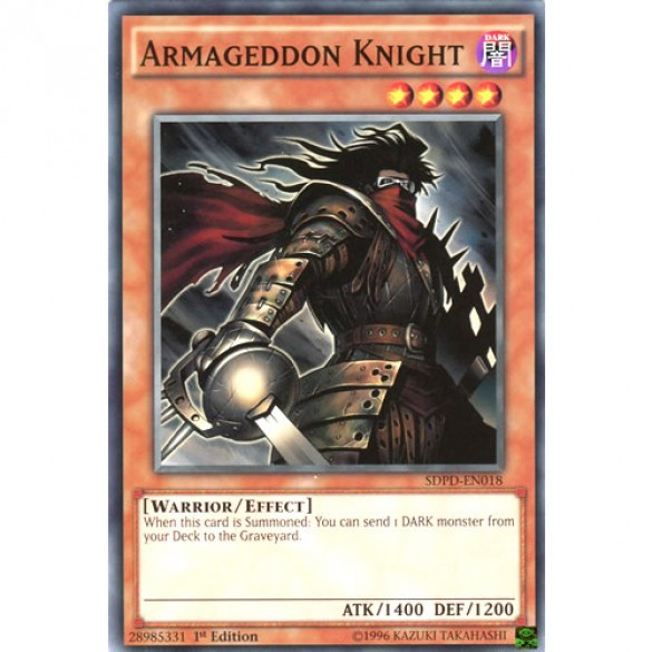 Armageddon Knight SDPD-EN018 1st Edition (Common) Yu-Gi-Oh! Card