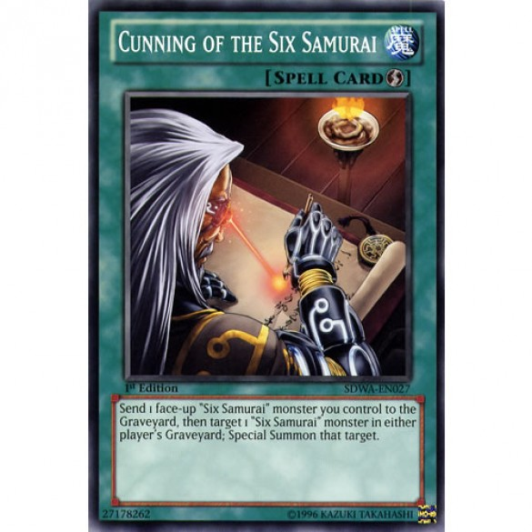 Cunning of the Six Samurai SDWA-EN027 1st Edition (Common) Yu-Gi-Oh! Card
