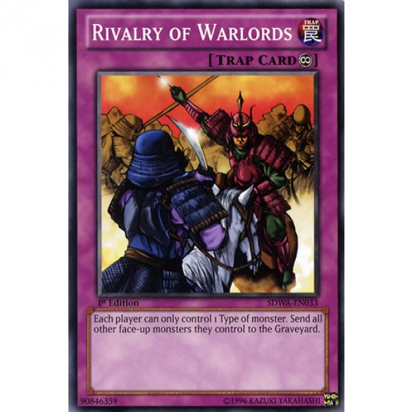 Rivalry of Warlords SDWA-EN033 1st Edition (Common) Yu-Gi-Oh! Card