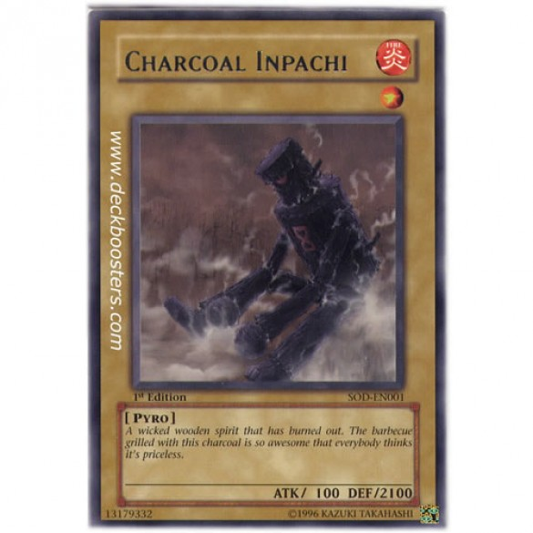 Charcoal Inpachi SOD-EN001 Unlimited Edition (Ultimate Rare) Yu-Gi-Oh! Card