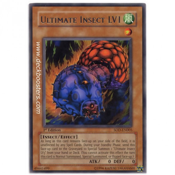 Ultimate Insect LV1 SOD-EN005 Unlimited Edition (Rare) Yu-Gi-Oh! Card