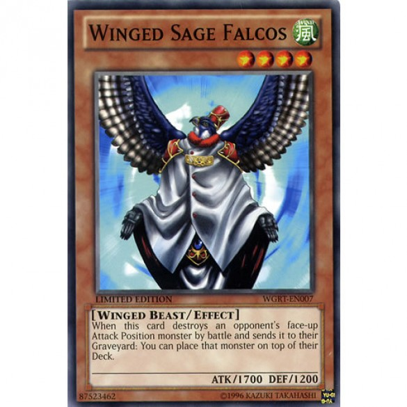 Winged Sage Falcos WGRT-EN007 Limited Edition (Common) Yu-Gi-Oh! Card