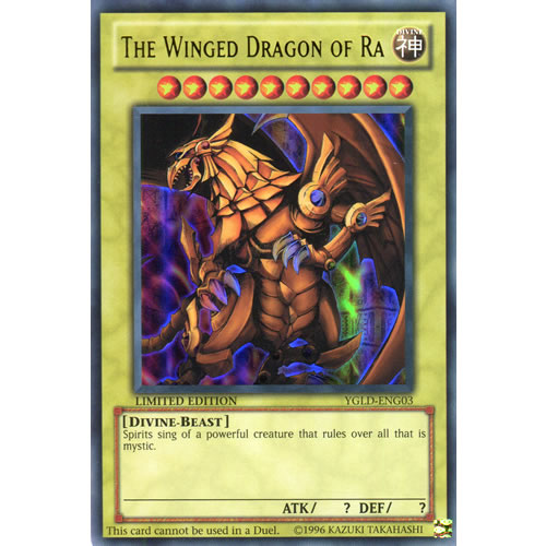 The Winged Dragon Of Ra YGLD-ENG03 1st Edition Yu-Gi-Oh! Card