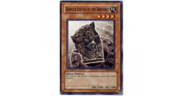 YUGIOH BARRIER STATUE OF THE DROUGHT CDIP-EN022 1st EDITION COMMON CARD