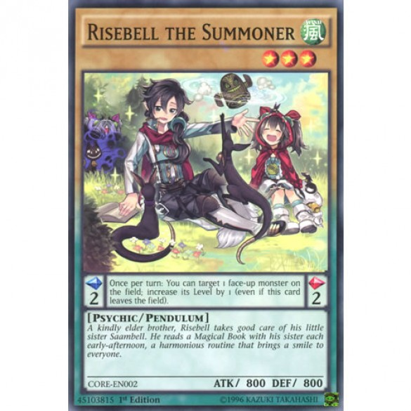 Risebell the Summoner CORE-EN002 1st Edition (Short Print) Yu-Gi-Oh! Card