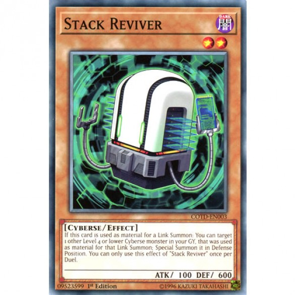 Stack Reviver COTD-EN003 1st Edition (Common) Yu-Gi-Oh! Card