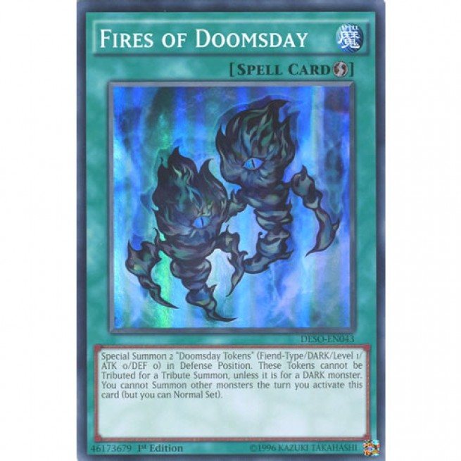 Yu-Gi-Oh 3x Super Rare Fires Of Doomsday 1st Edition DESO-EN043 NM