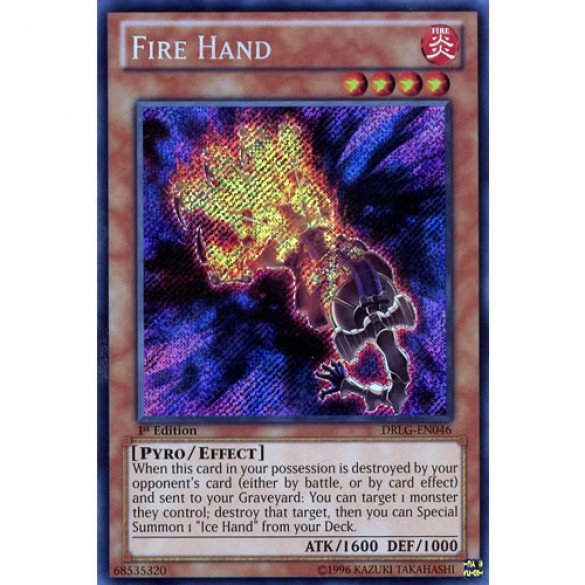 Fire Hand DRLG-EN046 1st Edition (Secret Rare) Yu-Gi-Oh! Card