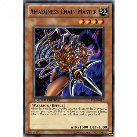 Amazoness Chain Master GLD3-EN017 Limited Edition (Common) Yu-Gi-Oh! Card