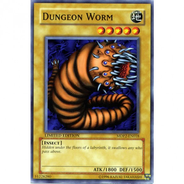 Dungeon Worm MDP2-EN018 Limited Edition (Common) Yu-Gi-Oh! Card