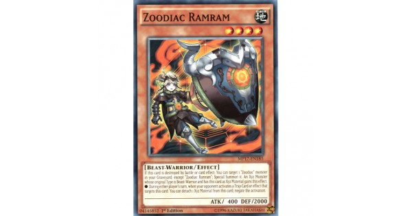 Details about  /MP17-EN185 Zoodiac Ramram1st Edition Common YuGiOh Trading Card Game TCG