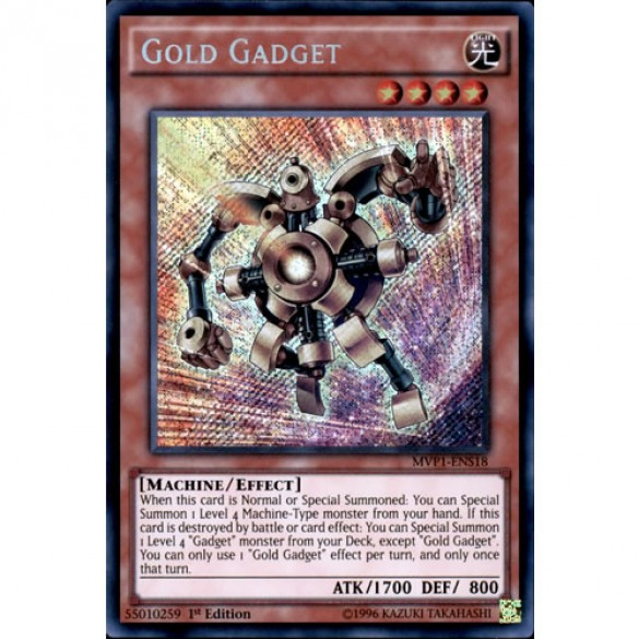 Gold Gadget MVP1-ENS18 1st Edition (Secret Rare) Yu-Gi-Oh! Card