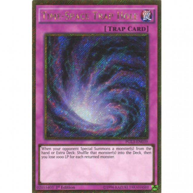 time space trap hole pgl3 en039 1st edition yu gi oh card