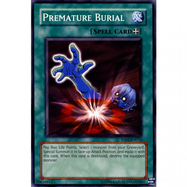 Premature Burial RP02-EN012 Unlimited Edition (Common) Yu-Gi-Oh! Card