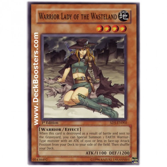 Warrior Lady of the Wastelend SD5-EN002 1st Edition (Common) Yu-Gi-Oh! Card