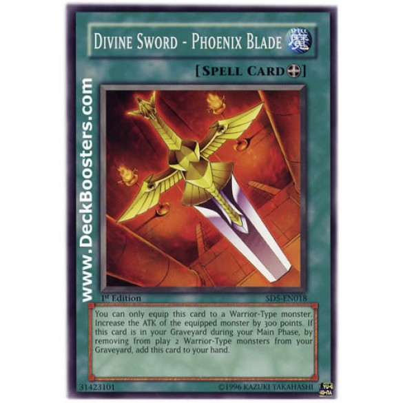 Divine Sword - Phoenix Blade SD5-EN018 1st Edition (Common) Yu-Gi-Oh! Card