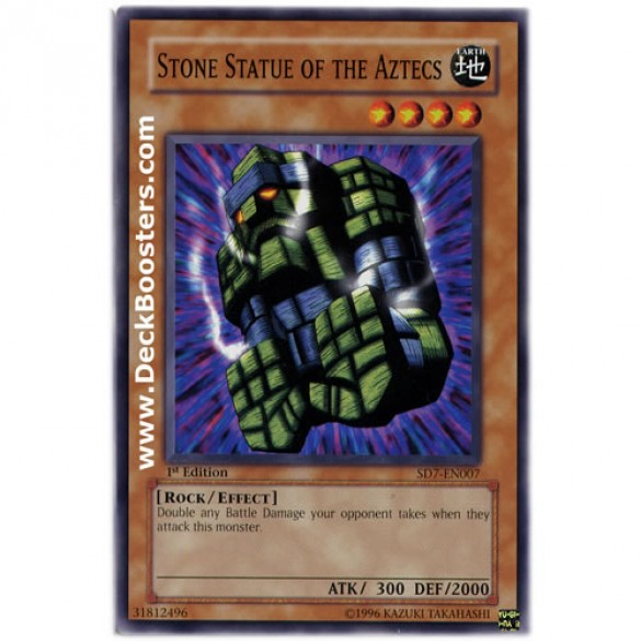Stone Statue of the Aztecs SD7-EN007 1st Edition (Common) Yu-Gi-Oh! Card