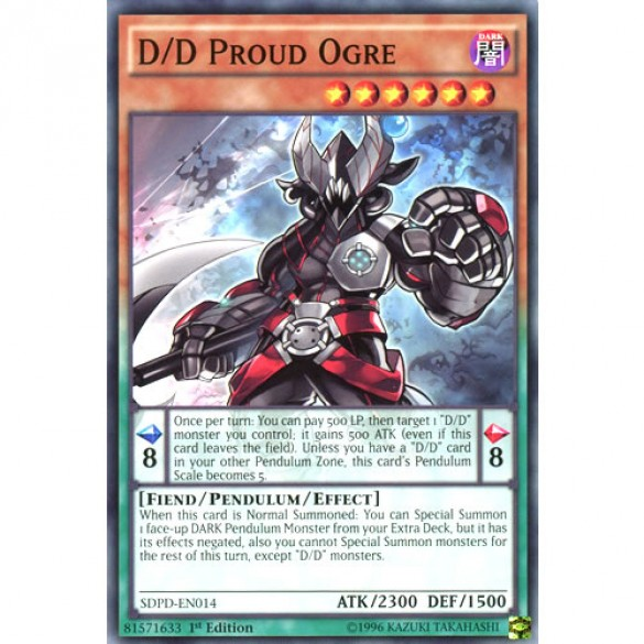 D/D Proud Ogre SDPD-EN014 1st Edition (Common) Yu-Gi-Oh! Card