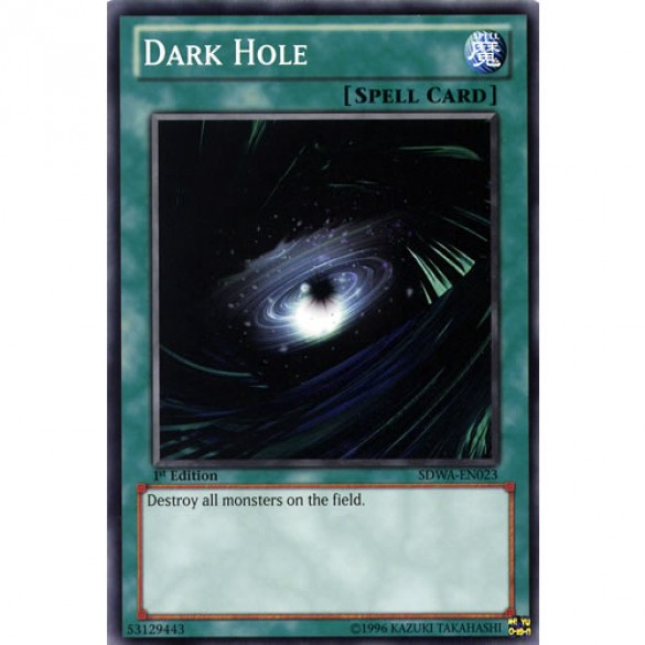 Dark Hole SDWA-EN023 1st Edition (Common) Yu-Gi-Oh! Card