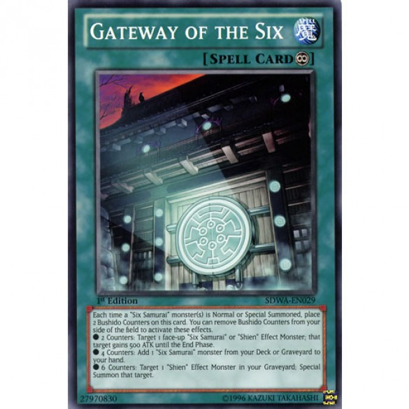 Gateway of the Six SDWA-EN029 1st Edition (Common) Yu-Gi-Oh! Card