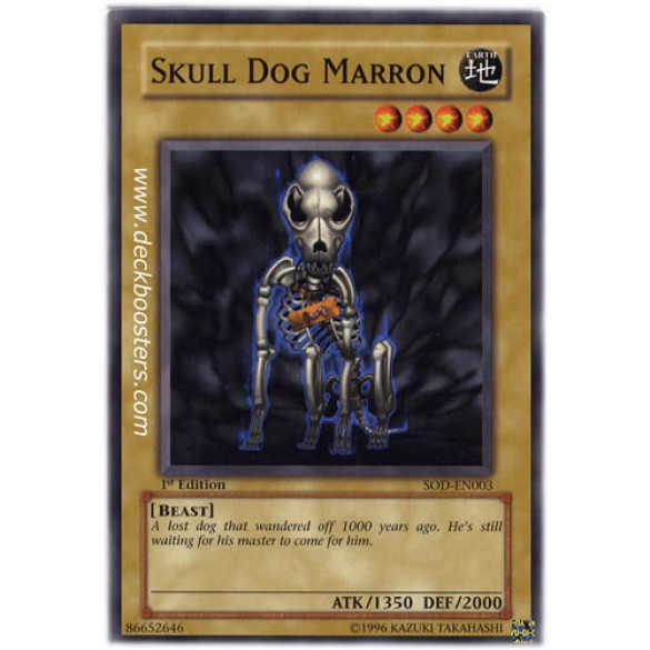 Skull Dog Marron SOD-EN003 Unlimited Edition (Common) Yu-Gi-Oh! Card