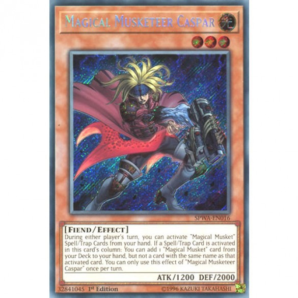 Magical Musketeer Caspar SPWA-EN016 1st Edition (Secret Rare) Yu-Gi-Oh! Card