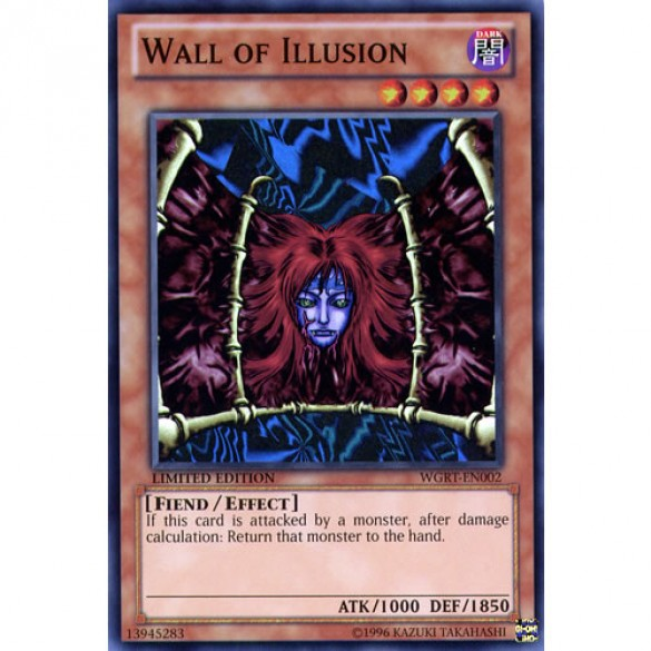 Wall of Illusion WGRT-EN002 Limited Edition (Super Rare) Yu-Gi-Oh! Card
