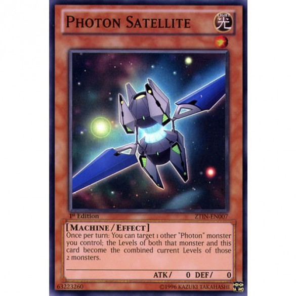 Photon Satellite ZTIN-EN007 Limited Edition (Super Rare) Yu-Gi-Oh! Card