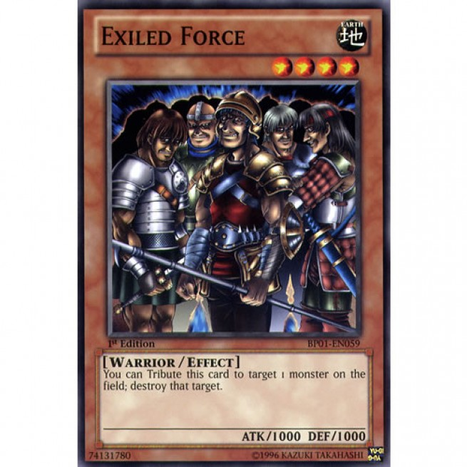 Warriors Of The Dawn English Subtitle: Exiled Force BP01-EN059 1st Edition Yu-Gi-Oh! Card