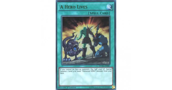 Yugioh A Hero Lives DUSA-EN087 Ultra Rare 1st Edition NM 3 AVAILABLE