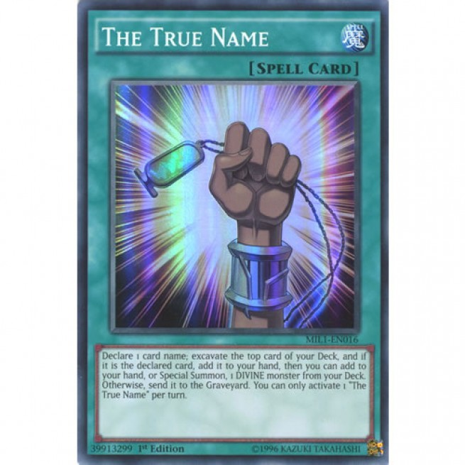the true name mil1en016 1st edition yugioh card