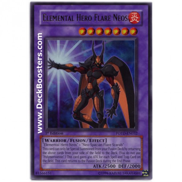 Elemental Hero Cards: Elemental Hero Flare Neos POTD-EN032 Unlimited Edition Yu